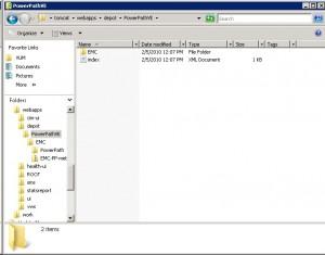 PowerPath/VE Depot Directory Tree
