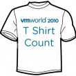VMworld T-Shirt Count