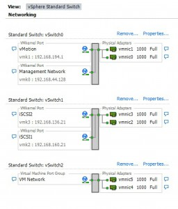 vmware networking configuration with software iSCSI