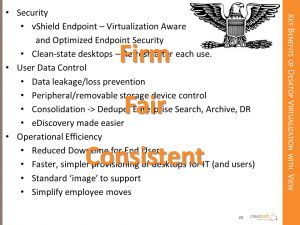 Virtual Desktop Benefits with VMware View