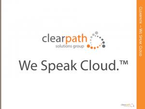Clearpath: We Speak Cloud