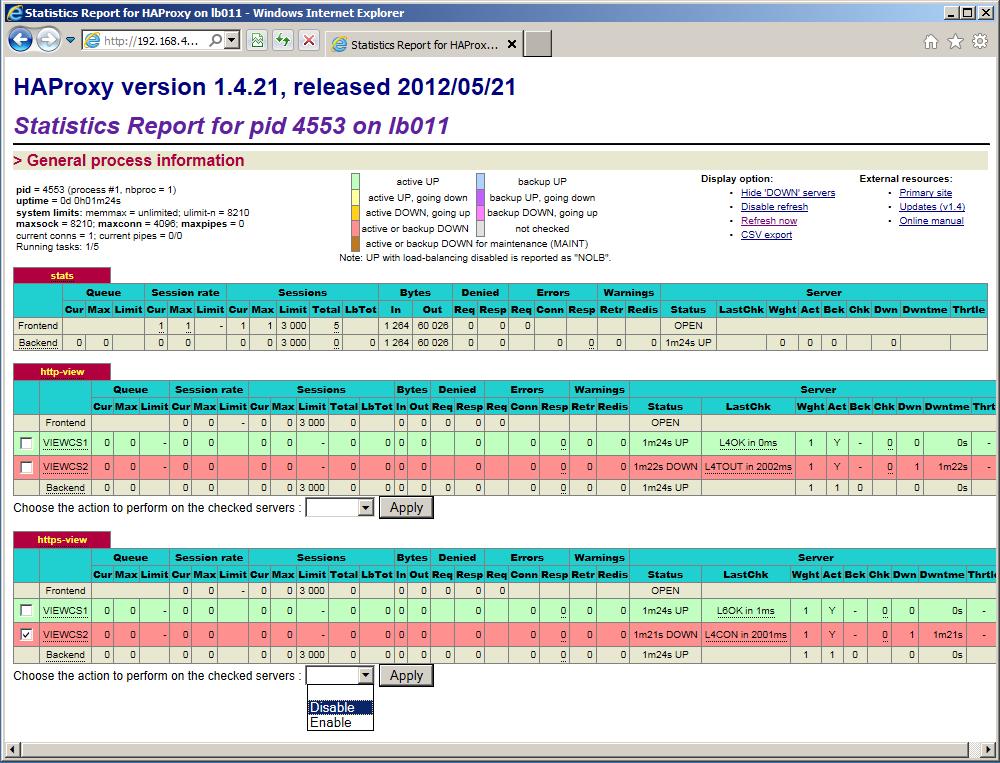 haproxy stats admin page