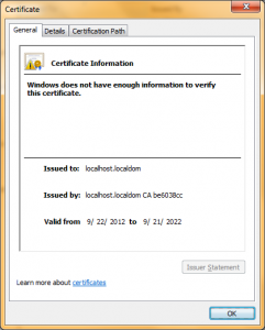 localhost.localdom certificate vmware vcenter virtual appliance