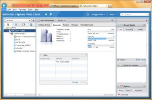 VMware vSphere 5.1 Web Client