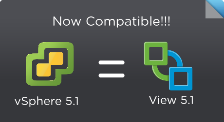View 5.1 and vSphere ESXi 5.1 Now Compatible