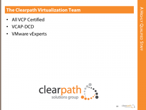 Clearpath's Virtualization Experts