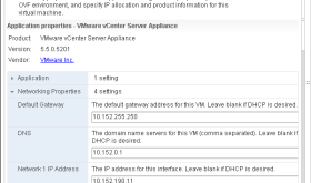 vCenter Virtual Appliance Network Settings Reverting