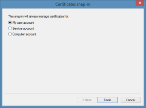 Manage Certificates for My User Account