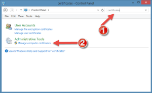 Manage Computer Certificates on Windows