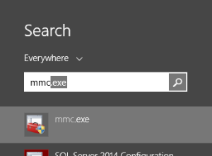 Search for mmc.exe