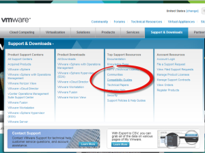 VMware HCL Link