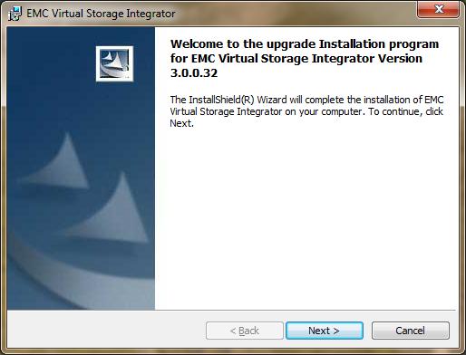 emc virtual storage integrator update