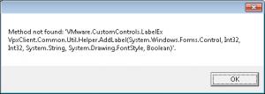 emc storage viewer vsphere client error