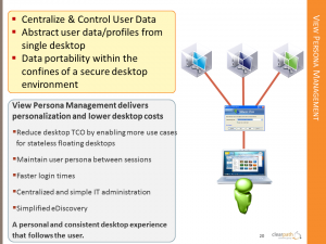 VMware View Persona Management