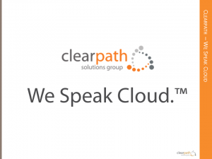 Clearpath: We Speak Cloud