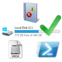 Check Free Disk Space C: drive