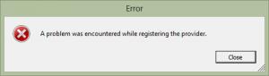 Error Registering VASA Provider
