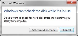 Check Disk Offline