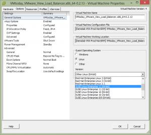 Change VM linux version