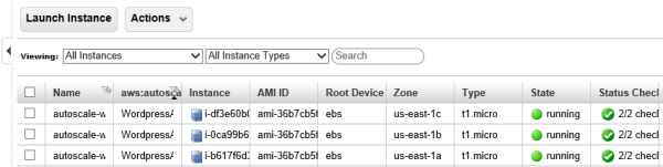 AutoScaling AWS EC2 Instances Starting Up