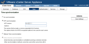 vCenter Server Virtual Appliance NTP Settings 2